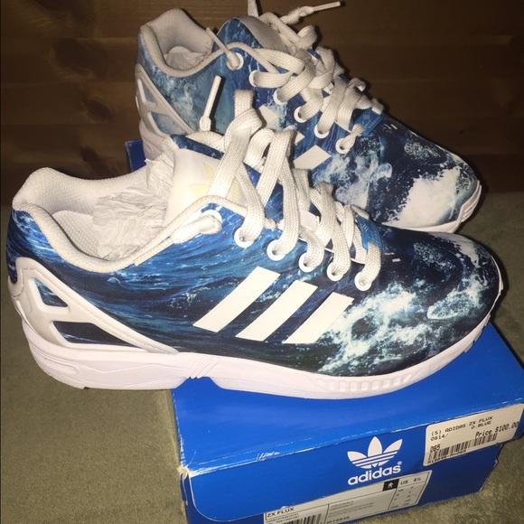 save off b908b 4c00d Adidas zx flux (ocean blue)