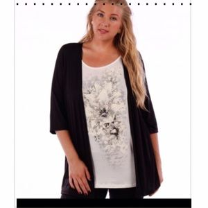 TWO IN ONE CARDIGAN & BLINGY TEE!
