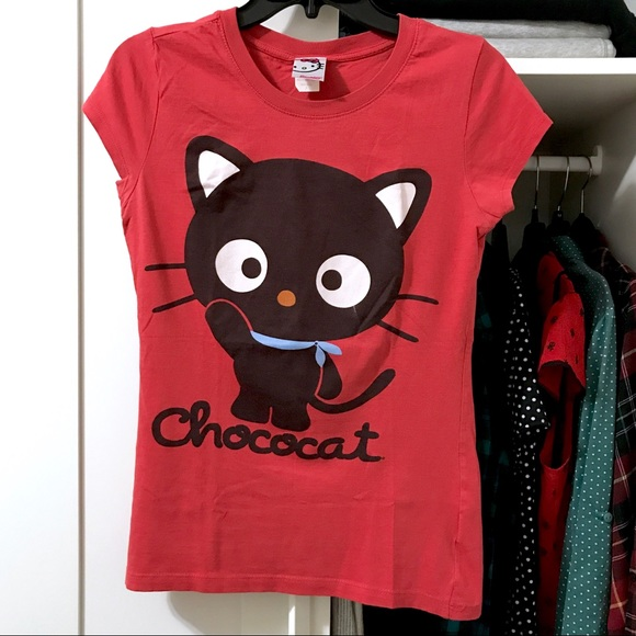 720038b0 Chococat Fitted Tee Shirt | Hello Kitty | Sanrio. M_595dca3078b31c74201694eb