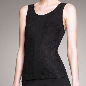 Jean Paul Gaultier Lace Panel Tulle Tank Med. NWT