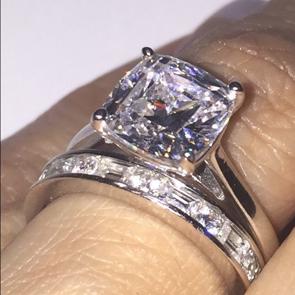jewelry epiphany diamonique bridal ring set - Diamonique Wedding Rings
