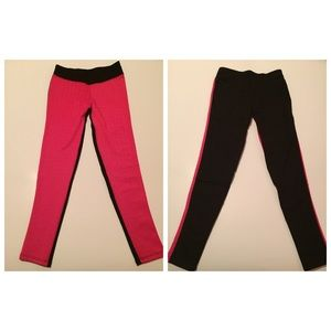 Pants - Hot pink with pattern leggings 😃🆕 size small ✅