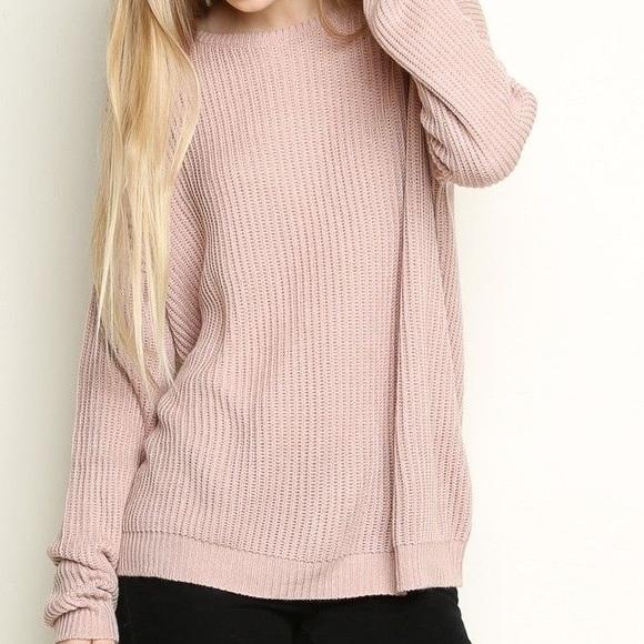 Brandy Melville - NWOT Brandy Melville Ollie Blush Pink Knit ...