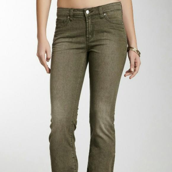 76% off Henry & Belle Denim - Designer boot cut Jeans Olive Green ...