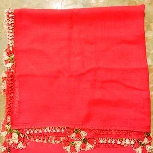 Handmade Accessories - Edged wrap, scarf, shawl...