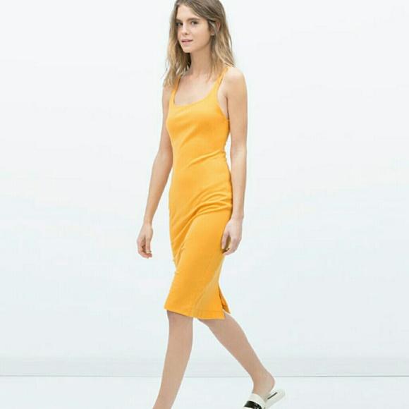 04632485c6e42 Zara Basic Sleeveless tank Dress