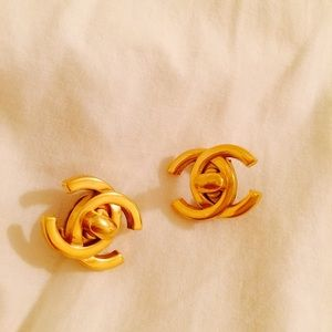 Chanel clip on earrings