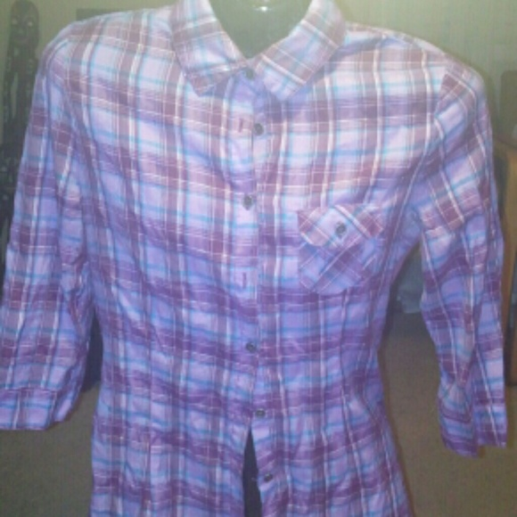 55 off self esteem tops plaid shirt from deidre 39 s for Awesome button down shirts