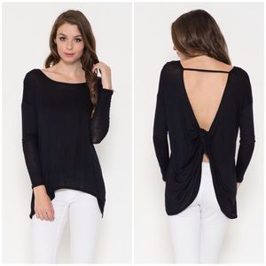 """Timeless"" Backless Long Sleeve Top"