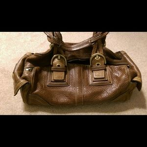 Coach distressed leather satchel
