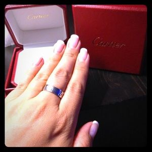 Authentic Cartier Love ring in 18K white gold