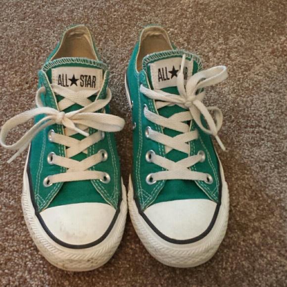 2725cef9601d Converse Shoes - Green  blue low top converse