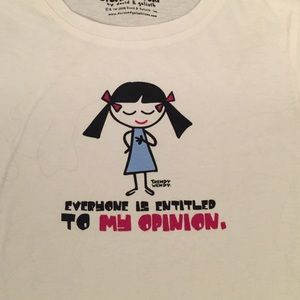 EVERYONE IS ENTITLED TO MY OPINION cap sleeved tee