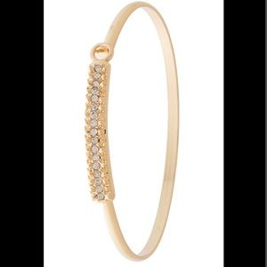 Jewelry - Ritzy Pave Bar Accent Hinge Bracelet