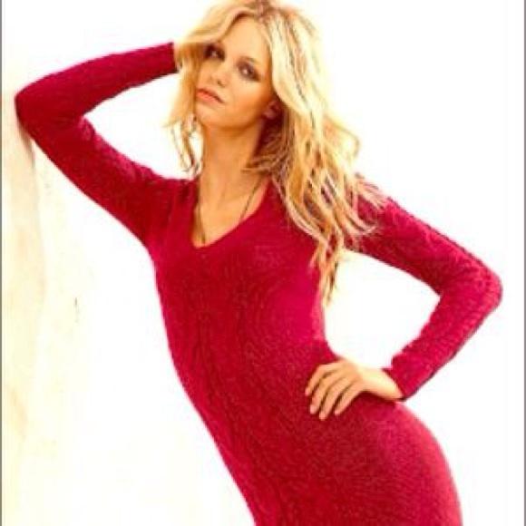 a8510e5fef1a0c True red victoria secret sweetheart sweater dress.  M 55ec649a36d594c836012707
