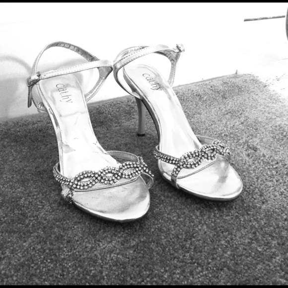 55% off Shoes - Nice Silver Heels from Mallory&39s closet on Poshmark