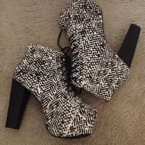 Jeffrey Campbell Pony Calf Hair Platform Booties