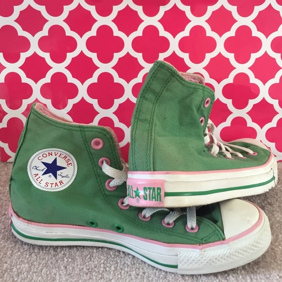 big sale 7c10d 56aa4 ... canada converse shoes pink green high top converse 766be d2f4f