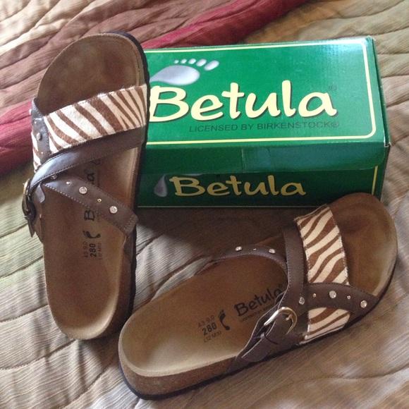 254df362b Betula Julie animal print   rhinestone cork sandal