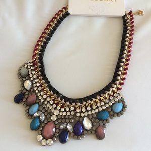 Multicolor rhinestone statement necklace