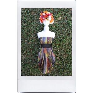 Eclectic Strapless Dress