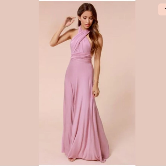 Lulus Dresses Lulus Versatile Maxi Dress Mauve Color Poshmark