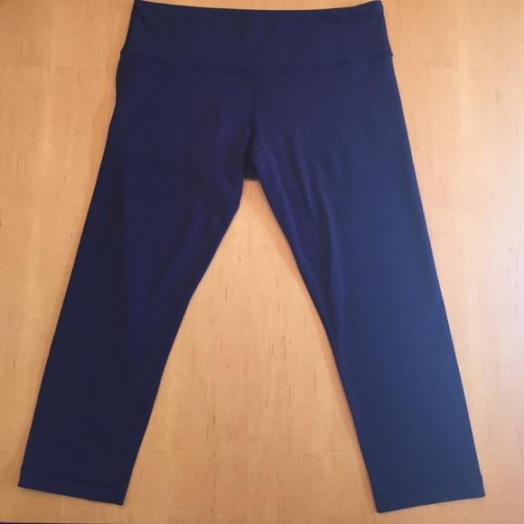 34% off lululemon athletica Pants - Navy blue Lulu wunder under ...