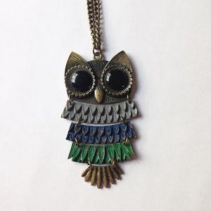Forever 21 Jewelry - F21 Long Owl Pendant Necklace