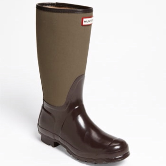 33% off Hunter Boots Shoes - Hunter Arlen Brown rain boots( barely ...