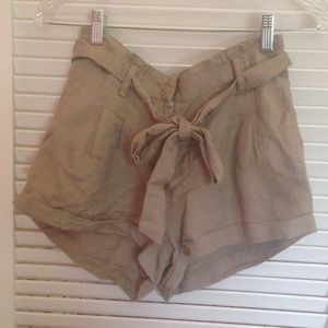 56% off Forever 21 Pants - Silk shorts with bow belt from ...