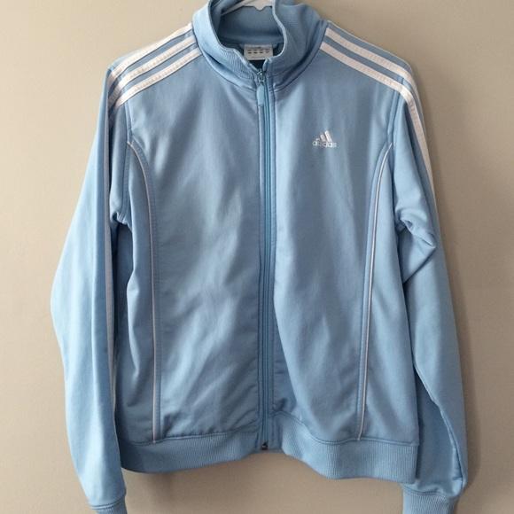 c61274823028 Adidas Jackets   Blazers - 💥Flash sale💥Baby blue Adidas zip up jacket