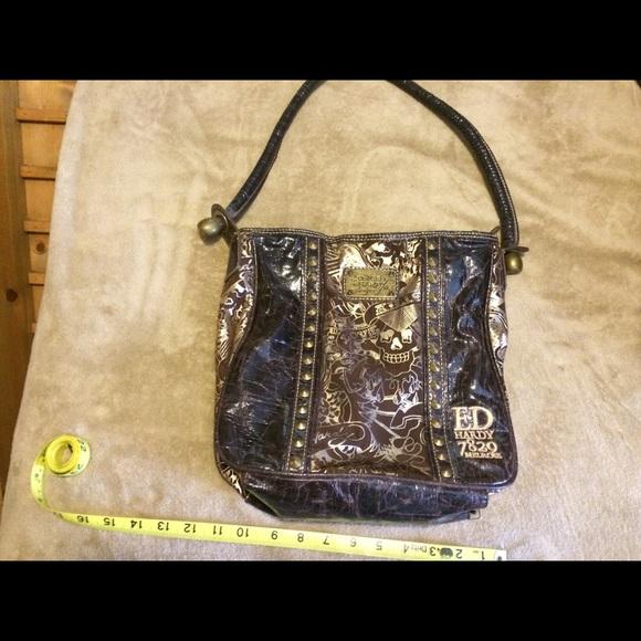 445c16feb9e Ed Hardy Handbags - Ed Hardy 7829 Melrose Brown   Gold Bag