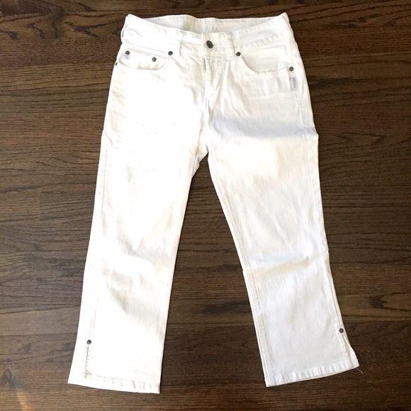 76% off Silver Jeans Denim - Silver Jeans • White Capris from