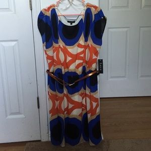 Lux Dresses & Skirts - NWT Lux Cinched Belted Colorblock Dress