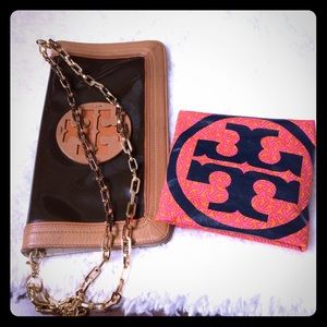 TORY BURCH leather shoulder bag . $180