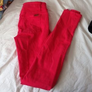 Joe's The Skinny Pink Red Jeans