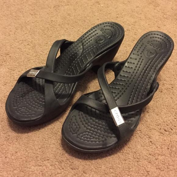 349e206b0 crocs Shoes - Black Crocs Heels - Colorado Boulder
