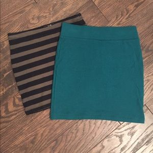 TWO BODY CON SKIRTS!