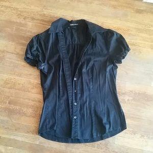 Sandra Ingrish Tops - Black button up blouse