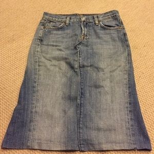 Denim sKirt 7 for all man kind size 27