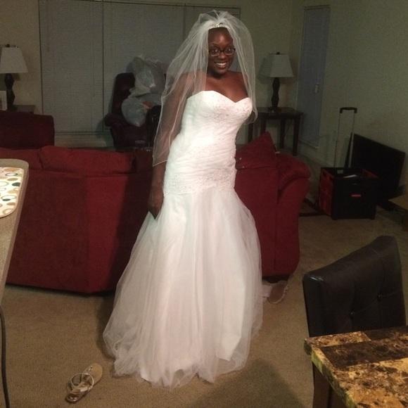 e8b8897b827ba David's Bridal Dresses   Wedding Dress Veil Slip And Crown   Poshmark