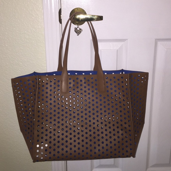 Zara Bags   Brown Laser Cut Tote By   Poshmark f0aa905cb2