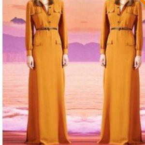 NWT Orange button front maxi dress