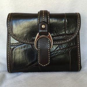 Dooney & Bourke Croco Embossed Leather Wallet