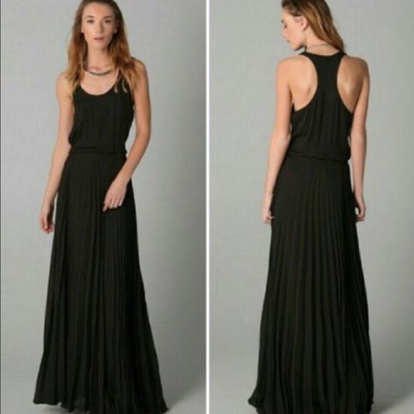 3041b33856 Parker Pleated Black Maxi Dress XS. M_55ece3087fab3a5c80015d31