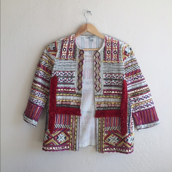 Embroidered Jacket with Beads