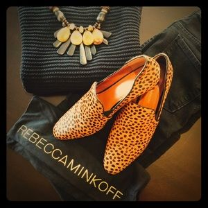 Rebecca Minkoff Cheetah Print Loafers