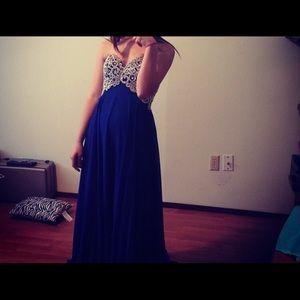 Long homecoming/prom dress.