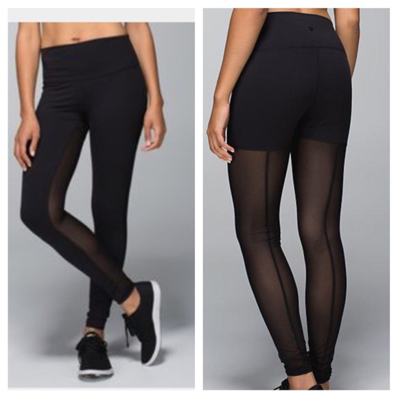 lululemon athletica - LULULEMON lab night tights mesh leggings ...