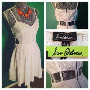 Sam Edelman White Eyelet Cutout Dress: NWT